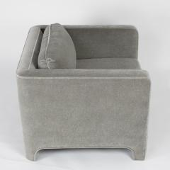 Interiors Crafts PAIR OF CLUB CHAIRS IN GRAY MOHAIR BY INTERIOR CRAFTS CIRCA 1980S - 733440