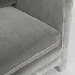 Interiors Crafts PAIR OF CLUB CHAIRS IN GRAY MOHAIR BY INTERIOR CRAFTS CIRCA 1980S - 733459