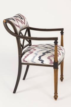 Interiors Crafts Set of Six Regency Style Armchairs by Interior Crafts Chicago - 421116