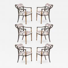 Interiors Crafts Set of Six Regency Style Armchairs by Interior Crafts Chicago - 422406