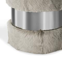 Interlude Home Scarlett Stool Grey Goat Nickel - 1442740
