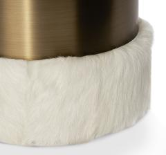 Interlude Home Scarlett Stool Ivory Goat Bronze - 1442724