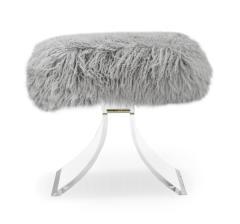 Interlude Home Serena Stool Grey Sheepskin - 1441496
