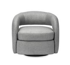 Interlude Home Targa Swivel Chair Grey - 1452430