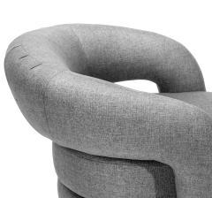 Interlude Home Targa Swivel Chair Grey - 1452431