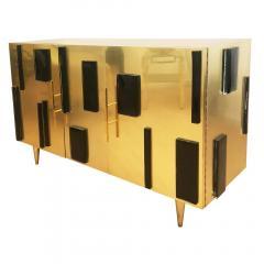 Interno 43 Brass and Glass Credenza by Interno 43 for Gaspare Asaro - 597101