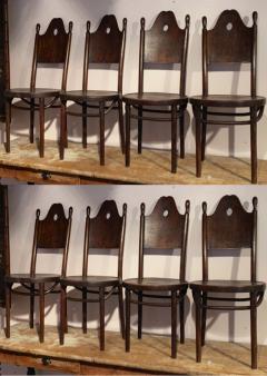 J J Kohn J J Kohn rarest neo gothic set of 8 dinning chairs - 1651305