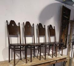 J J Kohn J J Kohn rarest neo gothic set of 8 dinning chairs - 1651325