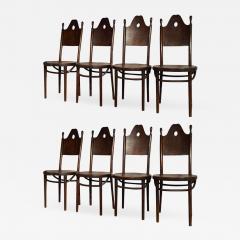 J J Kohn J J Kohn rarest neo gothic set of 8 dinning chairs - 1651949