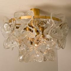 J T Kalmar Kalmar Lighting 1 of the 3 Massive J T Kalmar Catena Murano Glass Flush Mount Chandeliers - 1164744