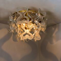 J T Kalmar Kalmar Lighting 1 of the 3 Massive J T Kalmar Catena Murano Glass Flush Mount Chandeliers - 1164747