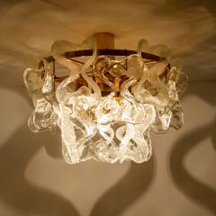J T Kalmar Kalmar Lighting 1 of the 3 Massive J T Kalmar Catena Murano Glass Flush Mount Chandeliers - 1164750