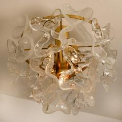 J T Kalmar Kalmar Lighting 1 of the 3 Massive J T Kalmar Catena Murano Glass Flush Mount Chandeliers - 1164751