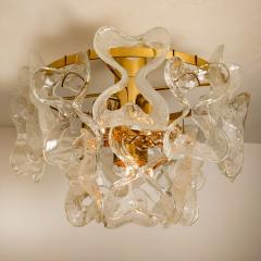 J T Kalmar Kalmar Lighting 1 of the 3 Massive J T Kalmar Catena Murano Glass Flush Mount Chandeliers - 1164757