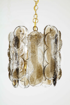 J T Kalmar Kalmar Lighting Kalmar Clear Amber Glass Chandelier  - 1198236