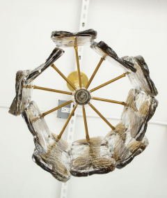 J T Kalmar Kalmar Lighting Kalmar Clear Amber Glass Chandelier  - 1198240