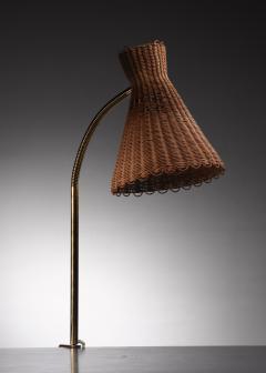 J T Kalmar Kalmar Lighting Kalmar clamp on brass and wicker desk lamp - 1640919