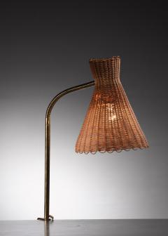 J T Kalmar Kalmar Lighting Kalmar clamp on brass and wicker desk lamp - 1640922