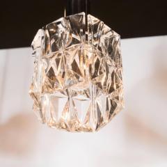 J T Kalmar Kalmar Lighting Mid Century Modern Etched Glass Pendant by J T Kalmar - 1460118