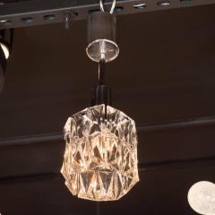 J T Kalmar Kalmar Lighting Mid Century Modern Etched Glass Pendant by J T Kalmar - 1460119