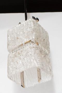 J T Kalmar Kalmar Lighting Mid Century Two Tier Textured Glass Pendant with Chrome Fittings by Kalmar - 1461220