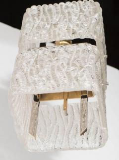 J T Kalmar Kalmar Lighting Mid Century Two Tier Textured Glass Pendant with Chrome Fittings by Kalmar - 1461222