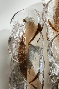 J T Kalmar Kalmar Lighting Pair of Braided Murano Glass Sconces by Kalmar - 1715113