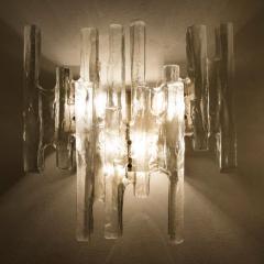 J T Kalmar Kalmar Lighting Pair of Kalmar Ice Glass Wall Sconce by J T Kalmar Austria 1970s - 1336520