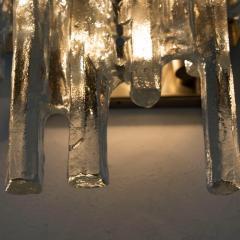 J T Kalmar Kalmar Lighting Pair of Kalmar Ice Glass Wall Sconce by J T Kalmar Austria 1970s - 1336523