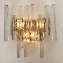 J T Kalmar Kalmar Lighting Pair of Kalmar Ice Glass Wall Sconce by J T Kalmar Austria 1970s - 1336525