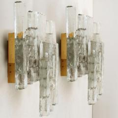 J T Kalmar Kalmar Lighting Pair of Kalmar Ice Glass Wall Sconce by J T Kalmar Austria 1970s - 1336528