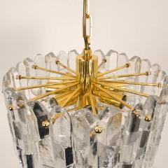 J T Kalmar Kalmar Lighting Set of Seven J T Kalmar Palazzo Light Fixtures Gilt Brass and Glass 1970 - 1314666