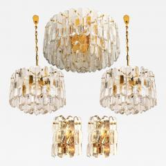J T Kalmar Kalmar Lighting Set of Seven J T Kalmar Palazzo Light Fixtures Gilt Brass and Glass 1970 - 1318617