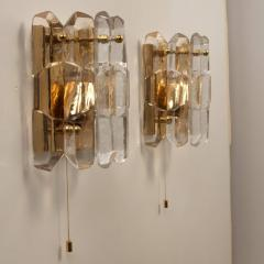 J T Kalmar Kalmar Lighting Set of Seven J T Kalmar Palazzo Light Fixtures Gilt Brass and Glass 1970 - 1324801