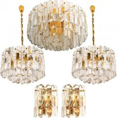 J T Kalmar Kalmar Lighting Set of Seven J T Kalmar Palazzo Light Fixtures Gilt Brass and Glass 1970 - 1324802