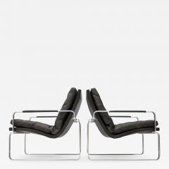 J rgen Lund Ole Larsen Pair of Danish Lounge Chairs by J rgen Lund Ole Larsen for Bo Ex - 1100488