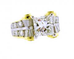 JB Star JB Star GIA 3 Carat Princess Cut Diamond Ring - 1159828