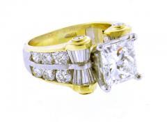 JB Star JB Star GIA 3 Carat Princess Cut Diamond Ring - 1159829