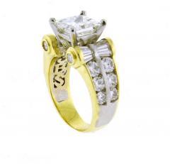 JB Star JB Star GIA 3 Carat Princess Cut Diamond Ring - 1159830