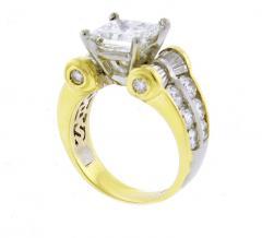 JB Star JB Star GIA 3 Carat Princess Cut Diamond Ring - 1159831