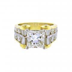 JB Star JB Star GIA 3 Carat Princess Cut Diamond Ring - 1159950