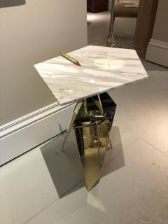 James Devlin Studio Shard Table Brass and Calacatta marble  - 1247276