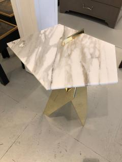 James Devlin Studio Shard Table Brass and Calacatta marble  - 1247277