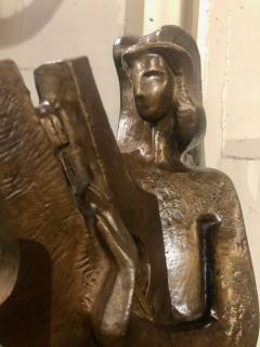 Jan Joel Martel Jan Joel Martel Art Deco Cubist Bronze Musician Angel Monumental 2 of 8 - 1386817