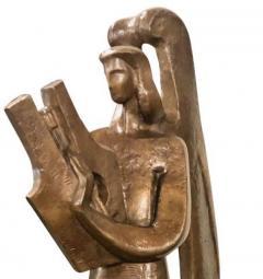 Jan Joel Martel Jan Joel Martel Art Deco Cubist Bronze Musician Angel Monumental 2 of 8 - 1386824
