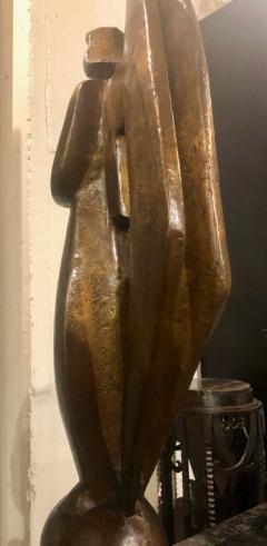 Jan Joel Martel Jan Joel Martel Art Deco Cubist Bronze Musician Angel Monumental 2 of 8 - 1386825