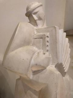 Jan Joel Martel Jan and Joel Martel LAccordioniste The Accordion Player Sculpture Art Deco - 1386867