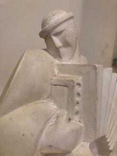 Jan Joel Martel Jan and Joel Martel LAccordioniste The Accordion Player Sculpture Art Deco - 1386869