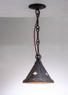 Jan Koldeweij Jan Koldeweij wrought iron pendant lamp - 1936123