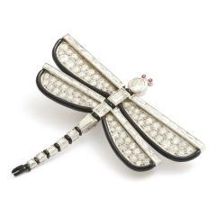 Janesich Art Deco Diamond and Enamel Dragonfly Brooch by Janesich - 430269